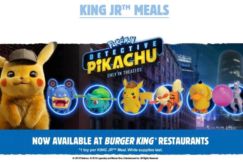 Burger King: Pokemon Detective Pikachu toy promotion