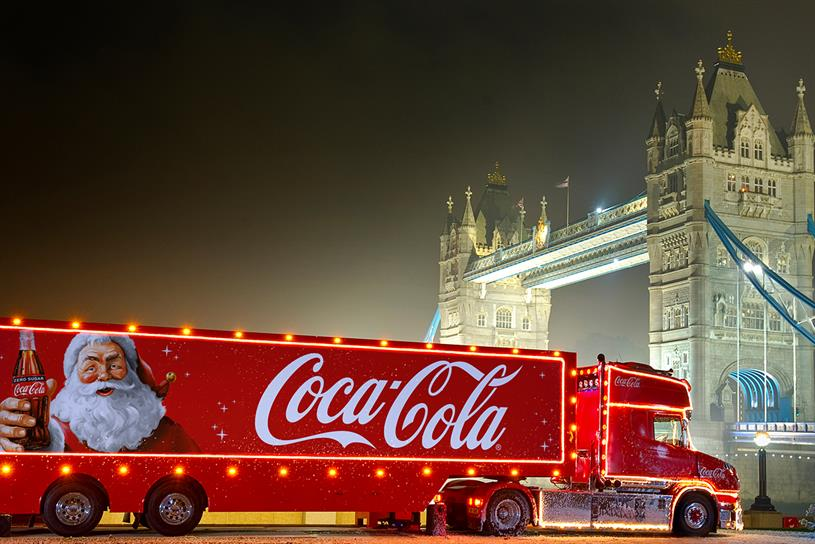 Coca-Cola: samples handed out in winter wonderland setting