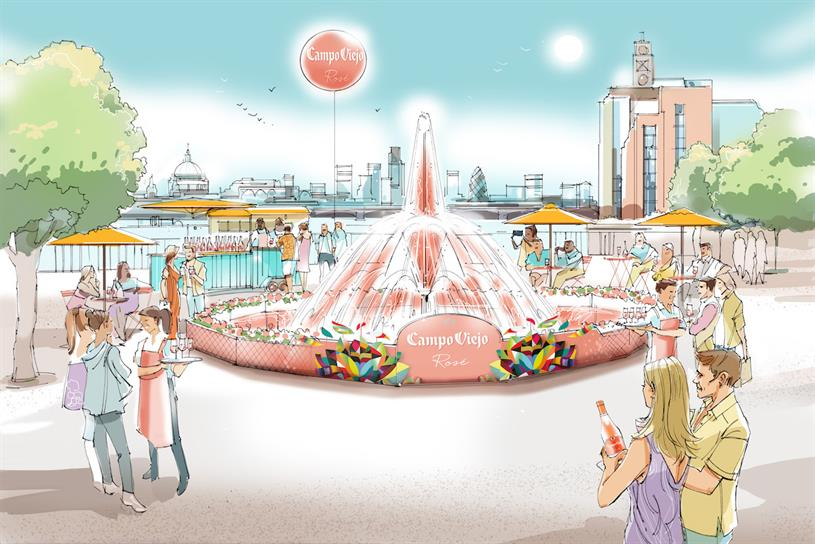 Campo Viejo: fountain's water jet will reach height of London bus