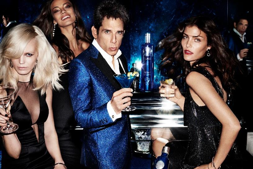 Zoolander 'Blue Steel': the supermodel's steely gaze is the inspiration for a limited edition Ciroc bottle