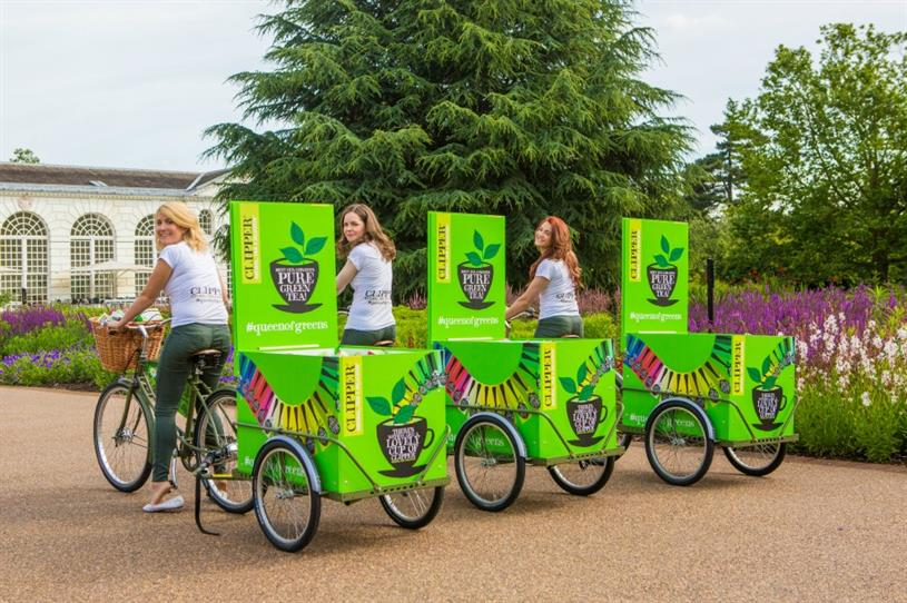 Clipper Teas: taking to the streets to promote green tea