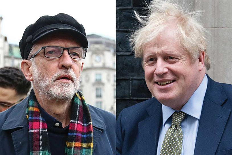 Corbyn and Johnson: trust scores vary significantly