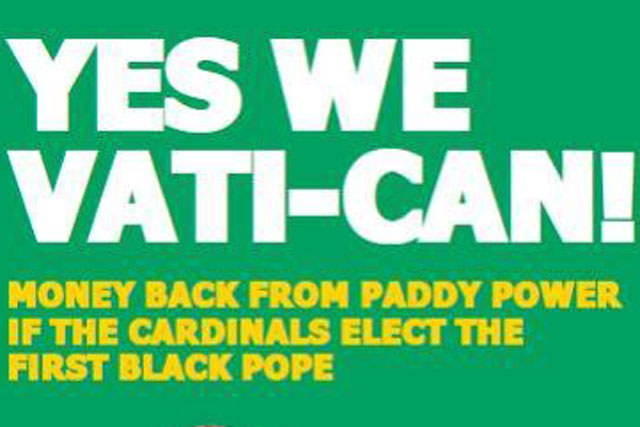 Throw Kitchen Sink Paddy power promises to throw kitchen sink at papal election paddy power latest press ad focuses on the forthcoming papal election workwithnaturefo