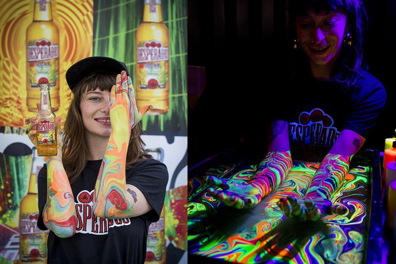 Desperados Takes Beer And Body Painting To Festivals