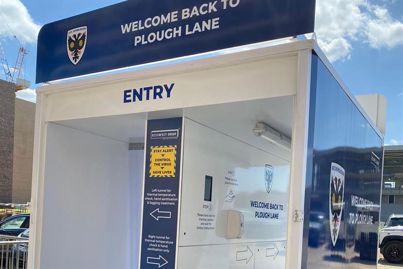 AFC Wimbledon: installing Disinfect facilities at Plough Lane