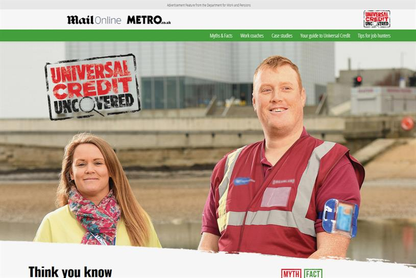 DWP: ads banned for misleading Mail and Metro readers