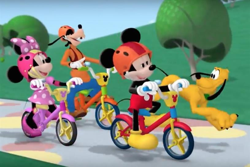 A still from the TV ad in Disney's new #HealthilyEverAfter campaign