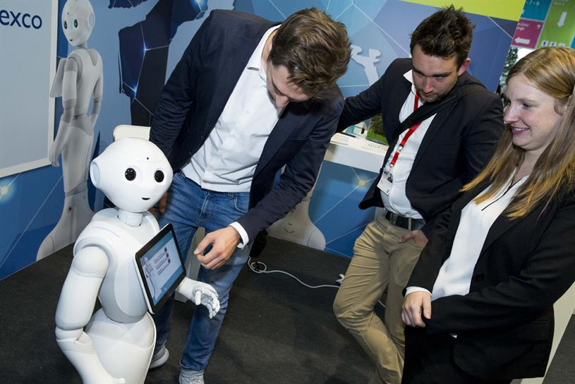 Dmexco attendees meet Pepper, the robot from SoftBank Robotics