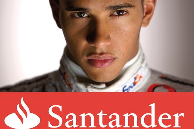 Santander: extending its partnership with McLaren's F1 team