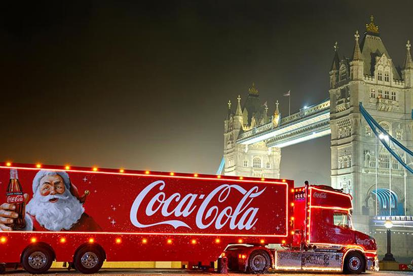 Coca-Cola: usually tours the UK with its truck