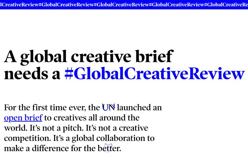 #GlobalCreativeReview: platform aims to improve responses to UN open brief