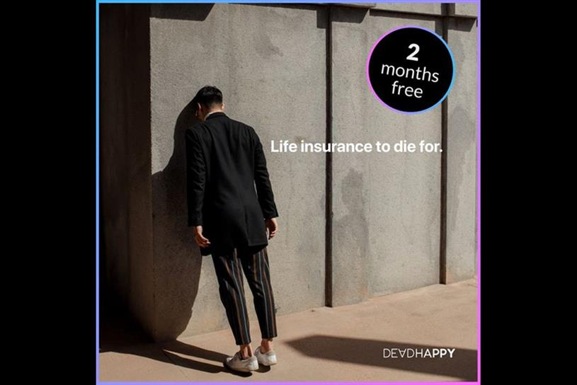 DeadHappy: ad was created to promote life-insurance offer