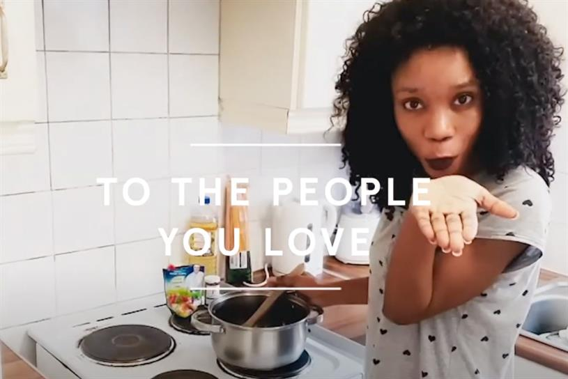 Tesco: ad shows foodies as they cook during lockdown