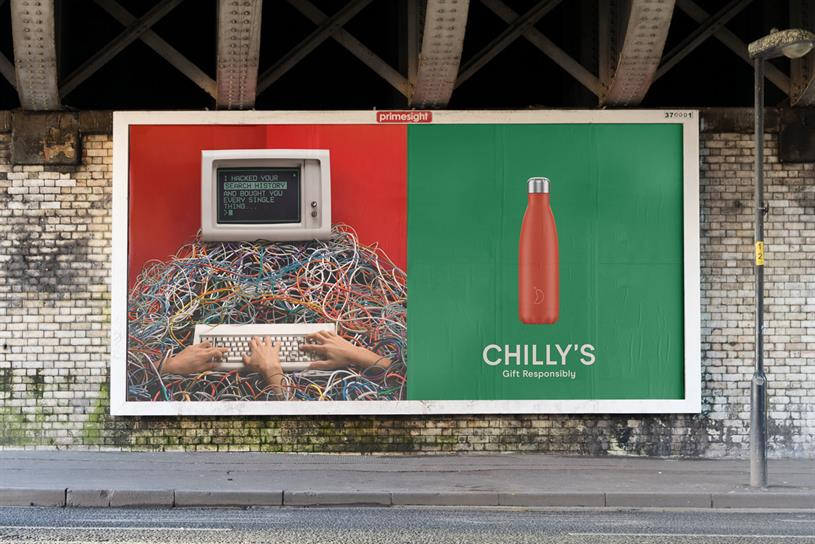 Chilly's: out-of-home activity is part of wider campaign