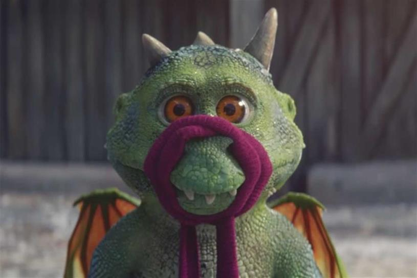 John Lewis & Partners: last year's ad starred lovable dragon Edgar