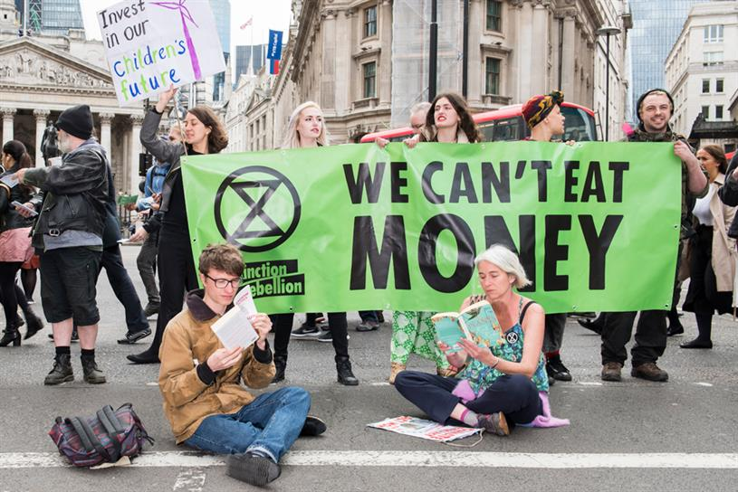 Extinction Rebellion: urging ad industry to act (credit: Extinction Rebellion/Adam Wiseman)