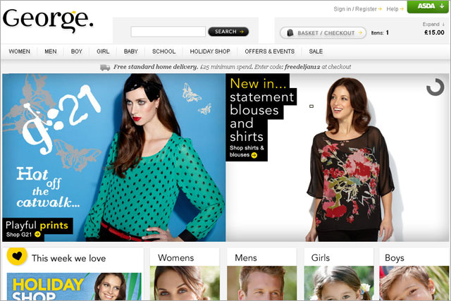 George: Asda's fashion-brand site
