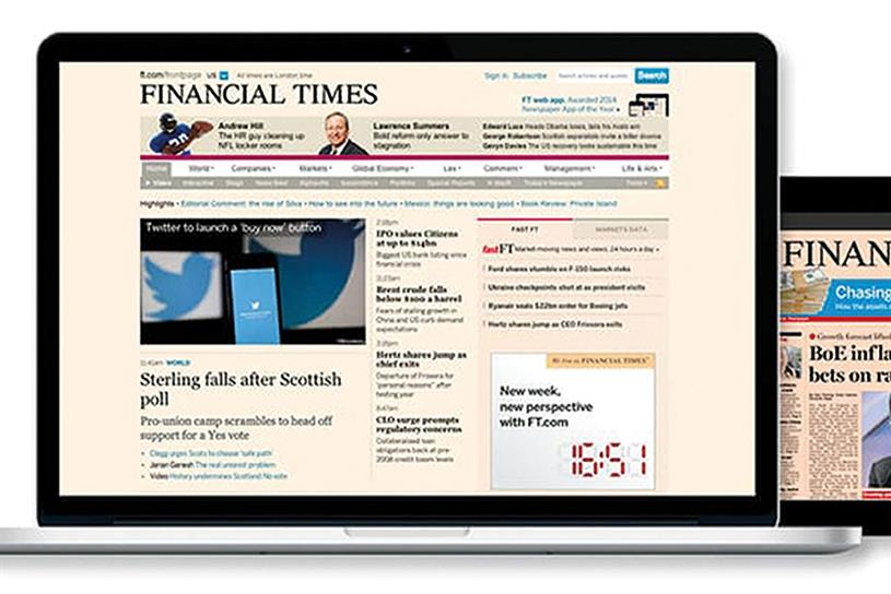 Financial Times: encourages advertisers to use only approved online ad exchanges