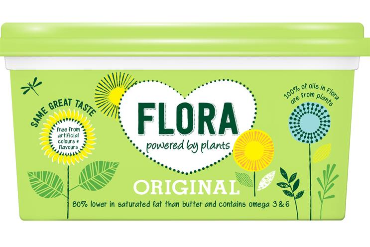 Flora: re-positioned last year to appeal to fans of 'plant-based' food