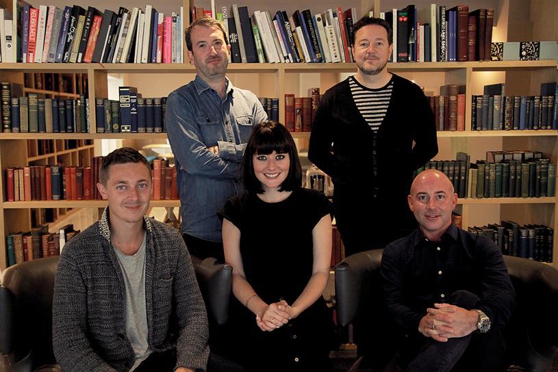 Fold7 creatives: (l-r) Ducker, Elms, Aston, Newey and Seath