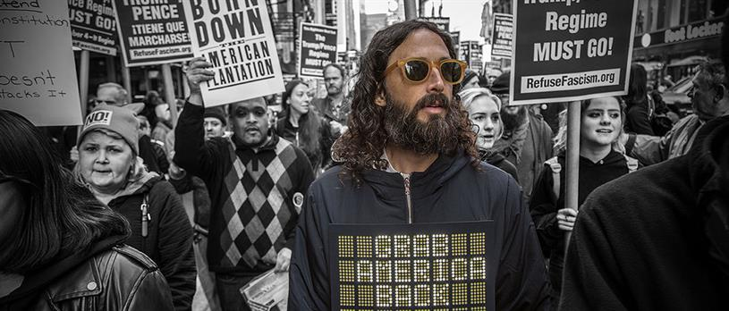 Folk Clothing wearable tech Protest Jacket by Brothers and Sisters