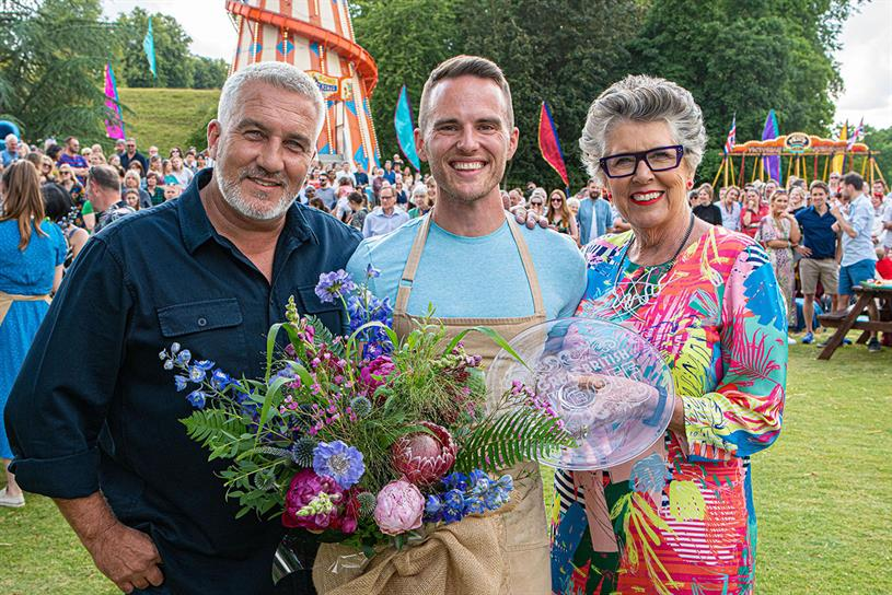 GBBO: Atherton (centre) with Hollywood and Leith