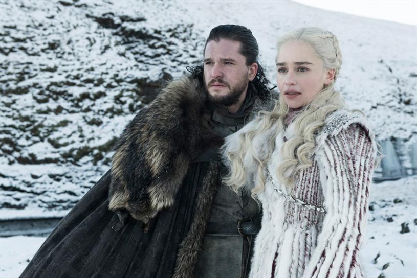 Game of Thrones: Jon Snow (Kit Harington) and Daenerys Targaryen (Emilia Clarke)