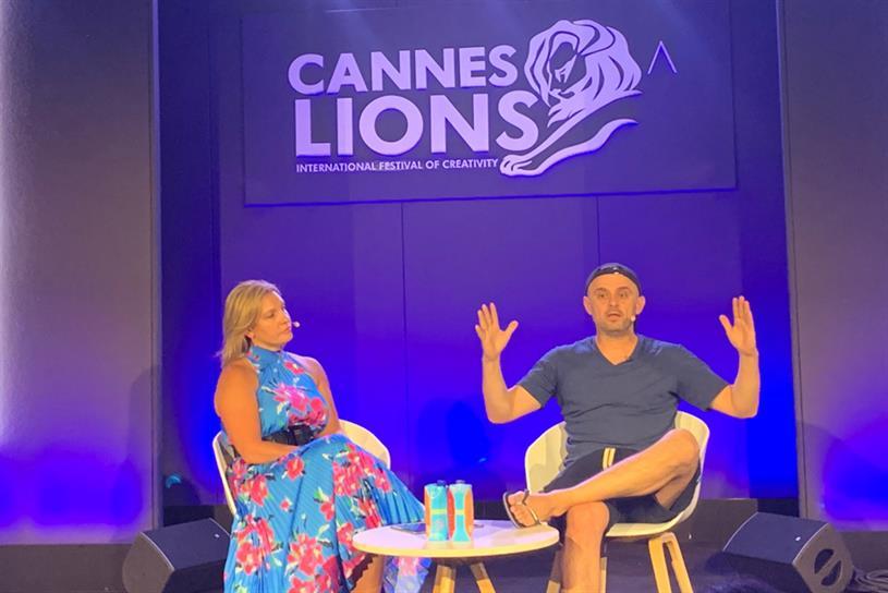 Vaynerchuk: with Balis at Cannes panel