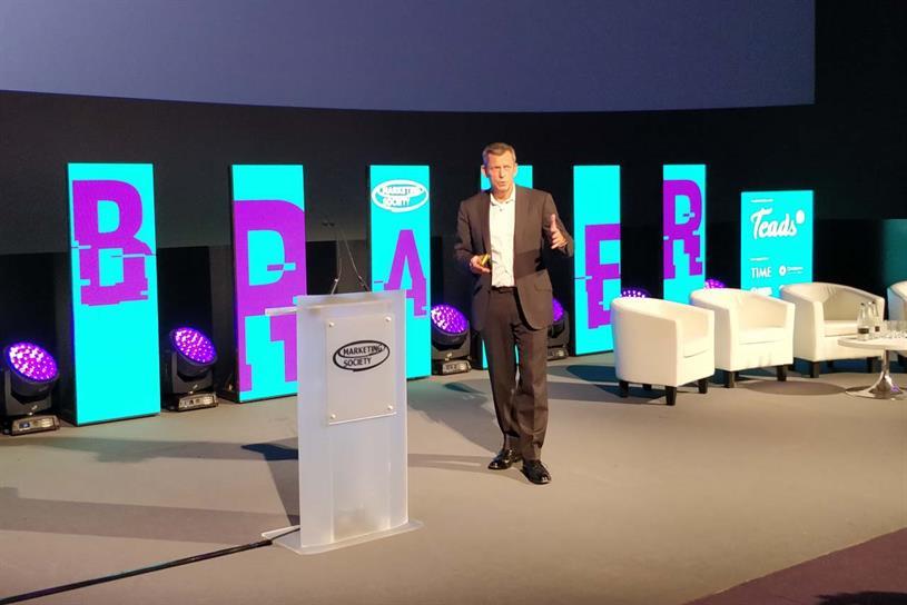 Glenn: speaking at Marketing Society Braver Conference
