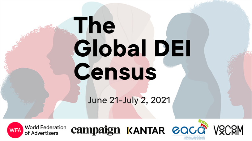 Global DEI Census: supporters include Campaign and Kantar
