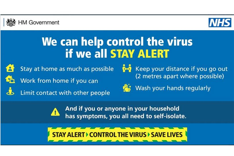 Government Unveils Stay Alert As New Coronavirus Messaging