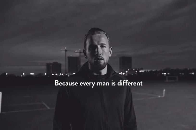 Harry's: created ad featuring England captain Harry Kane