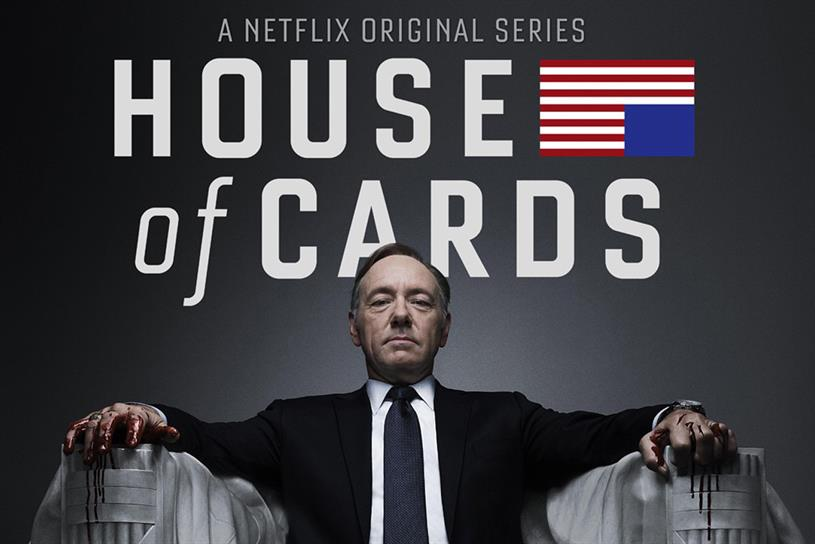 House of Cards: one of the most popular and critically lauded of Netflix's TV shows