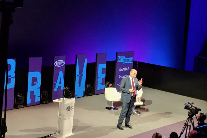 New York Times CEO Mark Thompson on stage