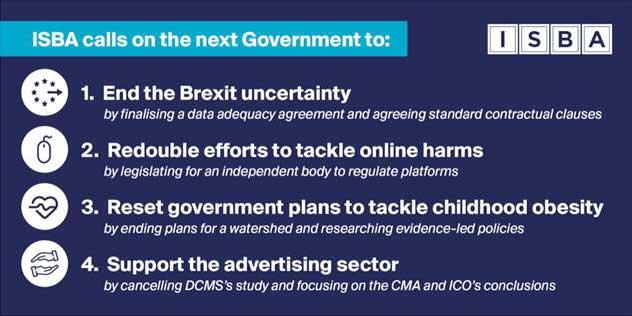 ISBA: manifesto aimed at winner of 12 December election