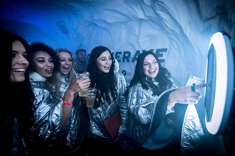 Coors Light: hosting ice cave rave in Glasgow
