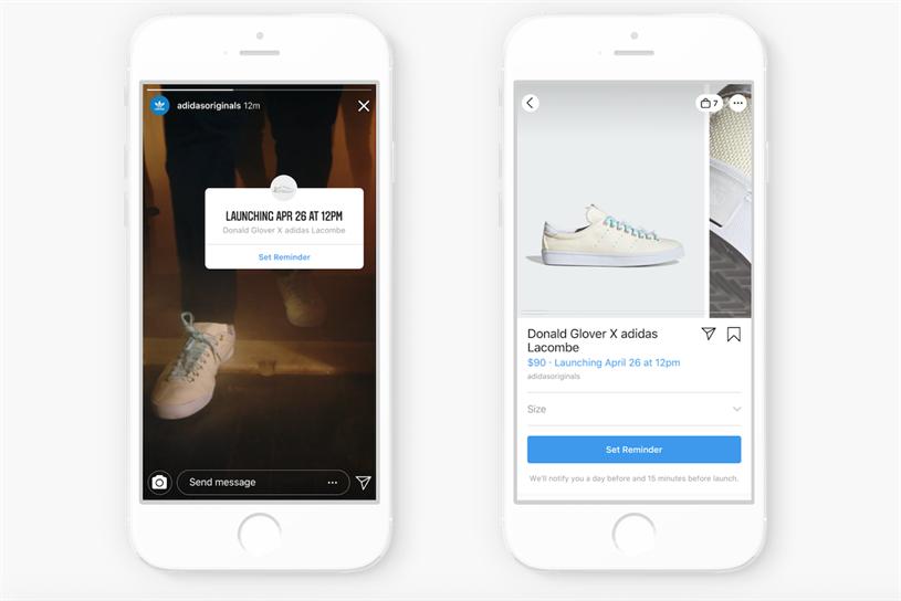 Instagram: 20 participating brands