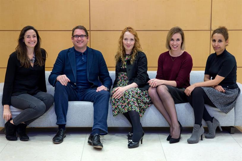 JWT London's Female Tribes Consulting team: Barton; Whitehead; Pashley; Moody and Salvi