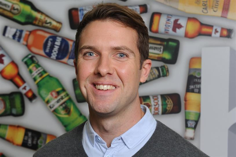 Shearer: will oversee marketing for brands including Carling, Coors Light, Cobra and Doom Bar