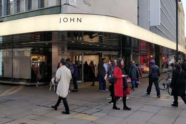 John Lewis: rebranded its Oxford Street signage