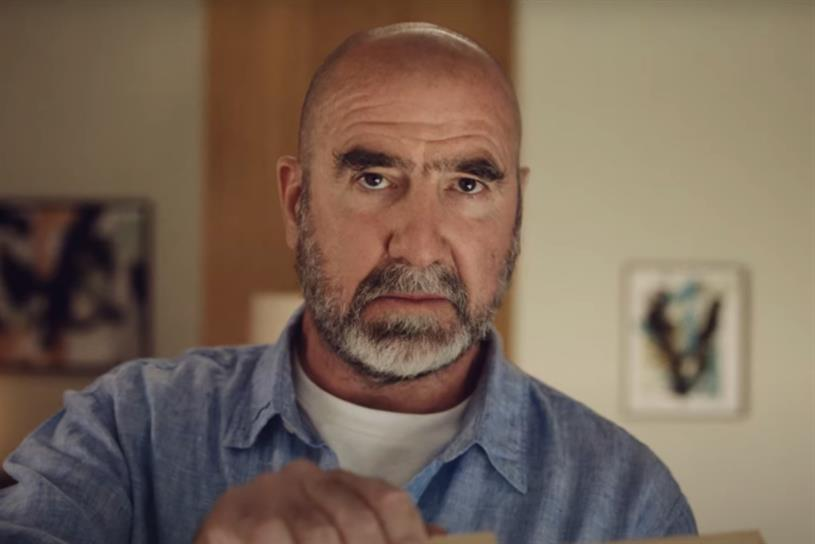 Just Eat: Eric Cantona starred in brand's Euro 2020 ad