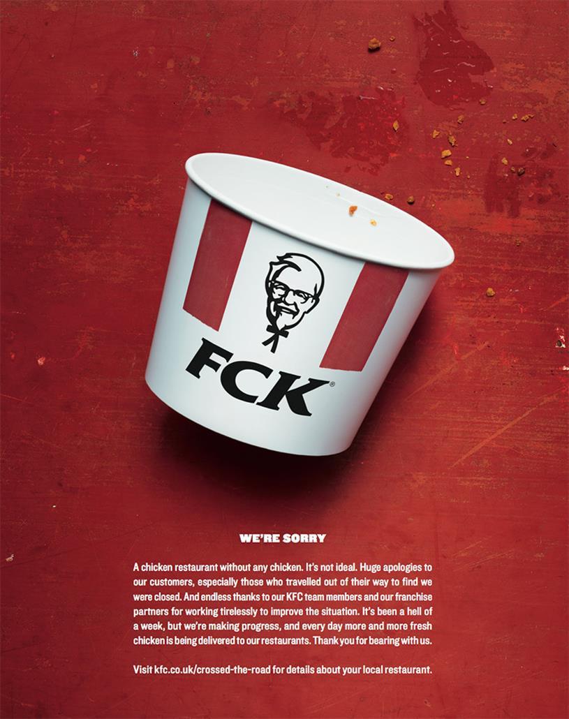 KFC: 'FCK' garnered most votes