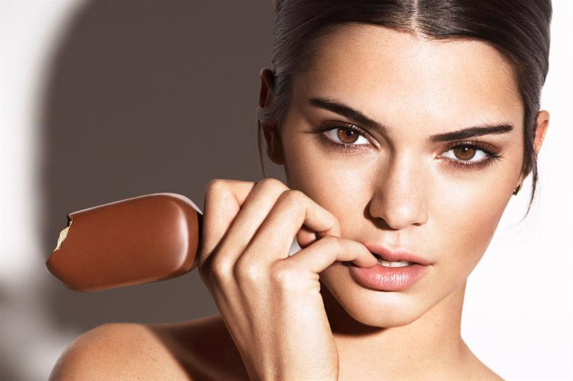 Kendall Jenner: the fashion model is promoting Magnum at the Cannes Film Festival