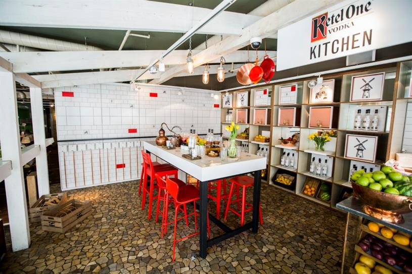 The Ketel One Vodka Kitchen is situated at The Folly in central London