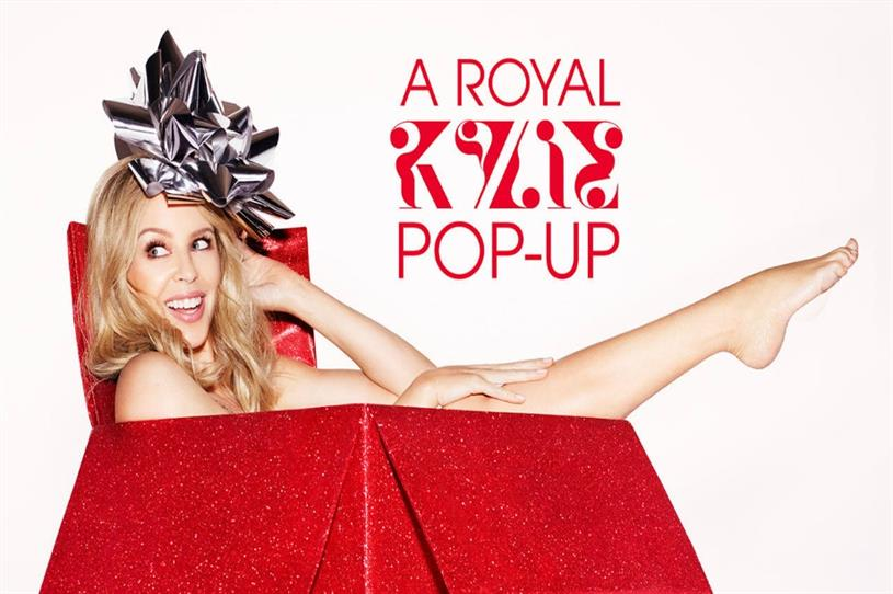 Kylie Minogue: launching pop-up for fans