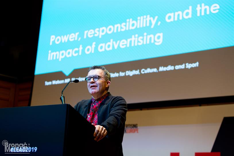 Watson: speaking at Lead last week