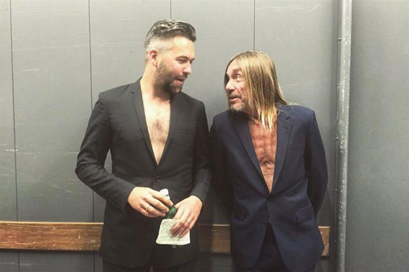 Nils Leonard and Iggy Pop take their shirts off for a good cause