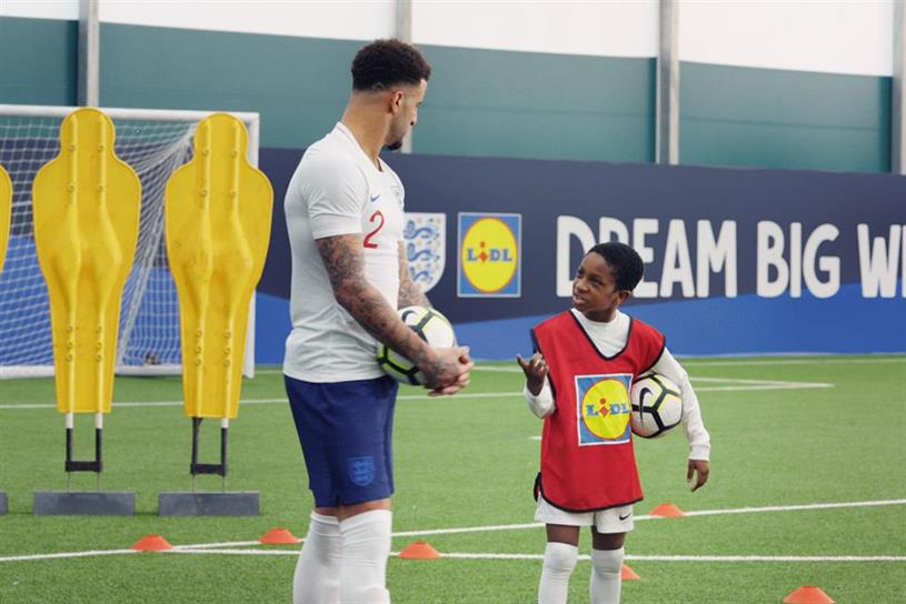 Lidl: ad highlights its partnership with the England football team