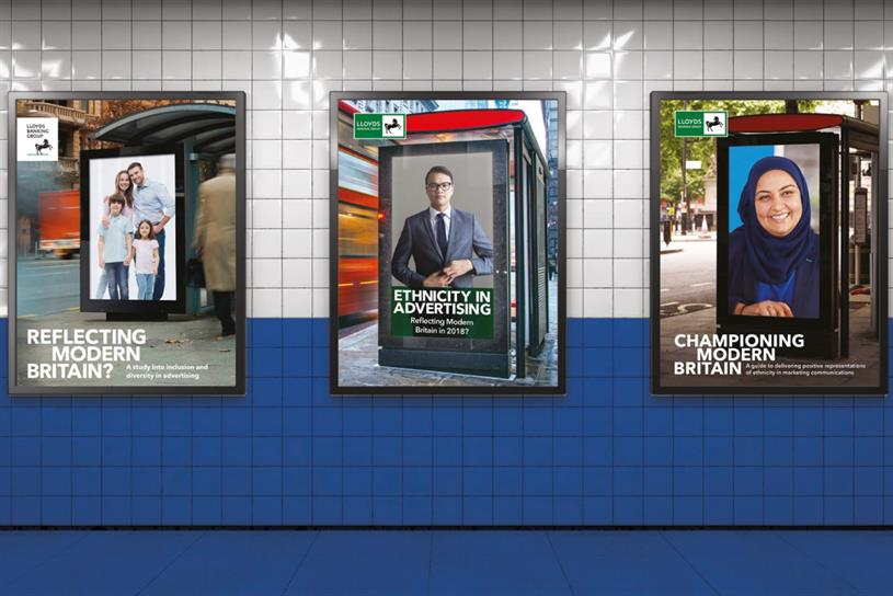 Lloyds Banking Group: report examines role of advertising in racial representation