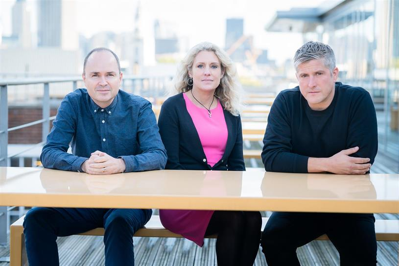 Lucky Generals: founders Andy Nairn, Helen Calcraft and Danny Brooke-Taylor